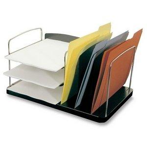 Buddy Products 760242 Desk Tray, 3 Vert./3 Horz. Pockets, 16-1/4