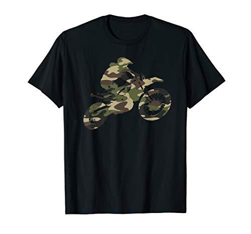 Motocross Dirt Bike Racing Shirt Camo Camouflage Tshirt Boys