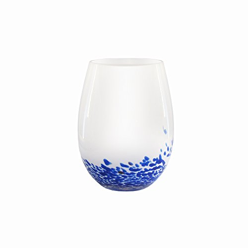 Fifth Ave Crystal 15 Ounce Indigo Stemless Wine Glasses, Set of 4 Fifth Ave Crystal