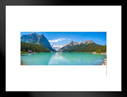 - Poster Foundry Lake Louise Mountain Banff National Park Alberta Canada Panoramic Photo Matted Framed Wall Art Print 20x26 inch