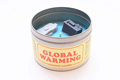 JD and Kate Industries Global Warming-Scented Candle | Hand-Poured in 16 oz tin | Ocean and Smoke Scent