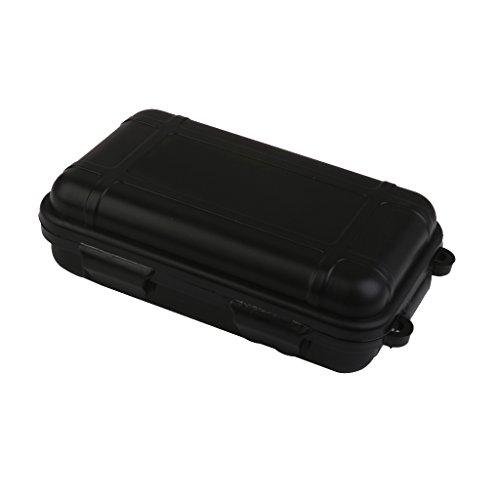 Outdoor Plastic Waterproof Airtight Survival Case Container Storage Carry Box Small New - Black Waterproof Storage Container