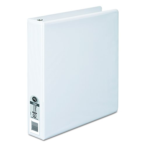 Wilson Jones 1-1/2 Inch 3 Ring Binder, Basic Round Ring View Binder, White (W362-34WV) ()