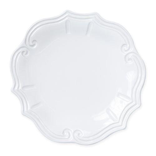 - Vietri Incanto Stone White Baroque Dinner Plate