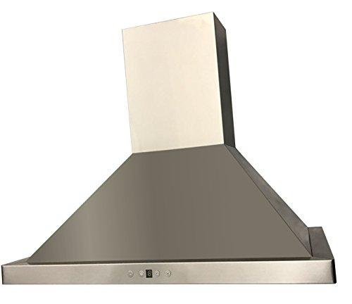 Cycene 30 Inch Wall-Mounted Stainless Steel Range Hood w/ Baffle Filter @ 600CFM - CY-RH198B2-30E