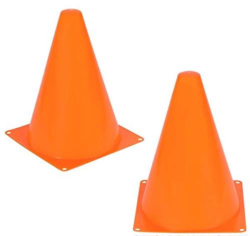 SK Novelty Multipurpose Sports Soccer Training Orange Traffic Cones - 24 Pack