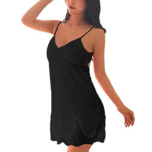2019 Women Lace Underwear Nightwear Dress,Ladies Sexy Ladies Lingerie Sleepwear (2XL, Black)