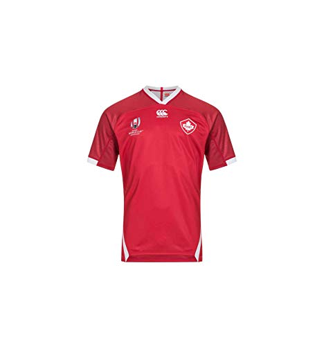 Canterbury Official Rugby World Cup 19 Canada Men's Vapodri+ Short Sleeved Home Pro Jersey