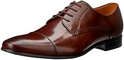 Florsheim Men's Clayton Lace-Up Flats, Teak, 40 EU