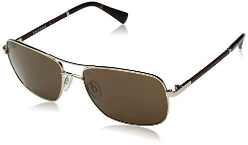 Cole Haan Men's Ch6001 Metal Navigator Aviator Sunglasses, Gold, 59 - Haan Aviator Sunglasses Cole