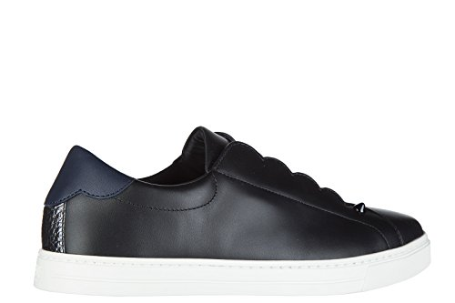 Fendi slip on donna in pelle sneakers nuove originali nero