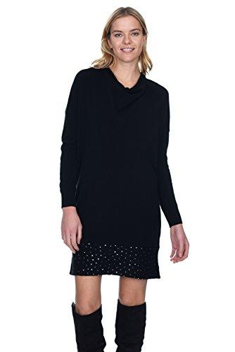 Cashmere Dress Womens (State Cashmere Women's 100% Cashmere Long Sleeve Cowl Neck Dress)