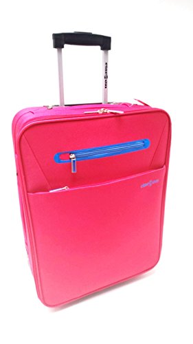 Trolley Clacson cm. 55 x 40 x 20 Bagaglio a mano Semirigido Impermeabile Idoneo Low Cost Ryanair (ROSSO)