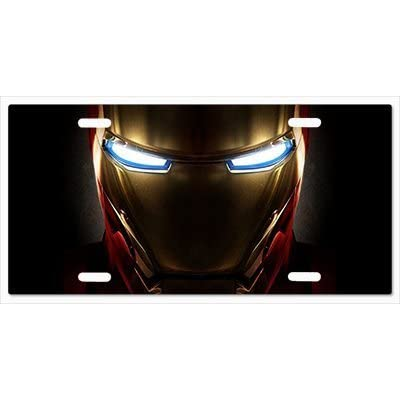 Cool Customized Car Plate Iron Eyes Iron Man Vanity Metal License Plate: Sports & Outdoors