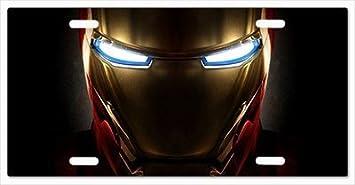 Metal Stamped License Plates Avengers Iron Man Tony Stark