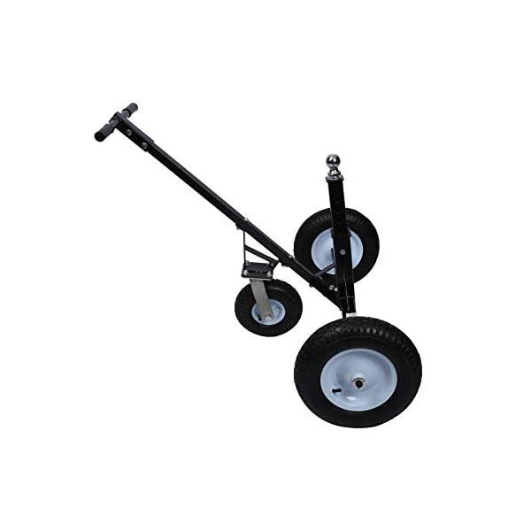 31ZdFB30DiL Rangierhilfe für Anhänger & Wohnwagen, 3 Räder, bis 453,6 kg, höhenverstellbare Kupplungskugel
