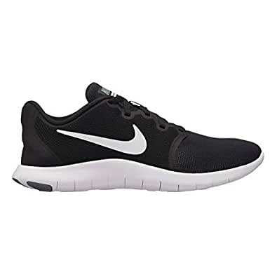 Official Nike Flex Contact 2 Training Shoes Womens Fitness Gym Workout Trainers Sneakers Black/White (UK3) (EU36) (US5.5)