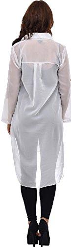 Nightingale Collection - Camiseta de manga larga - para mujer blanco