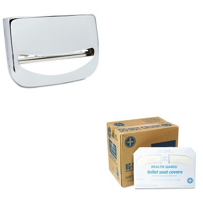KITBWKKD200HOSHG5000CT - Value Kit - Stainless Steel Toilet Seat Cover Dispenser (BWKKD200) and Health Gards Toilet Seat Covers (HOSHG5000CT) by Boardwalk (Image #1)