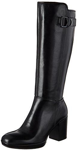 ECCO Women's Women's Shape 55 Chalet Tall Riding Boot, Black, 38 EU/7-7.5 US - Chalet Heels
