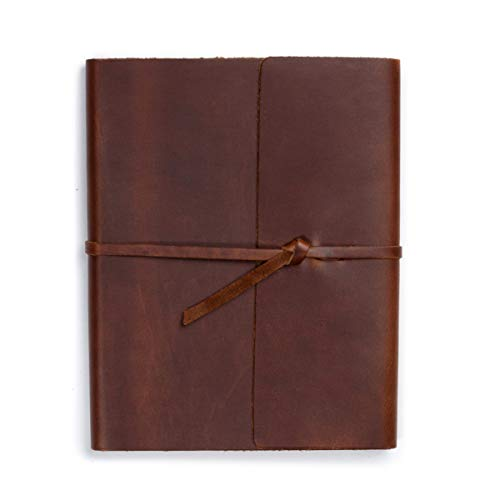 Rustico's Leather Journal for Women or Men, Classic Leather Softcover Writing Notebook, 6x8 Lined Journals To Write In, 192 Pages Notebook, Writers Notebook, Markings Journal