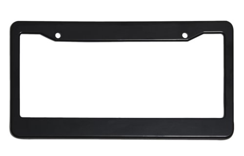Motorup America Auto License Plate Frame Cover - Fits Select Vehicles Car Truck Van SUV - Solid Black