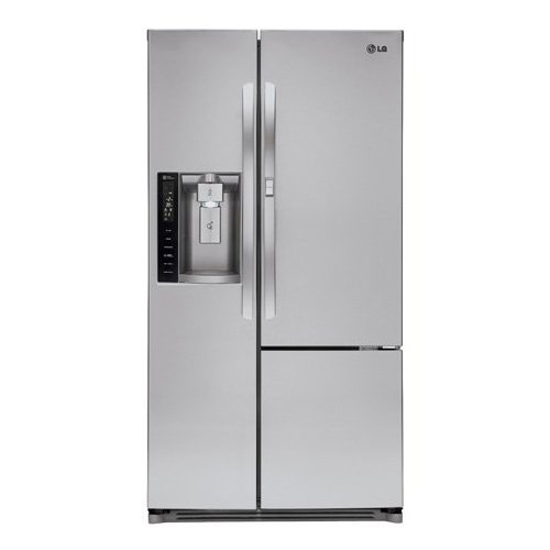 Price comparison product image LG LSXS26366S 35-Inch Side by Side 26 Cubic Feet Freestanding Refrigerator, Stainless Steel