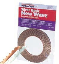 """5/16"""" Scalloped Silver Backed Foil - 1.5 Mil"""