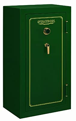 Stack-On FS-24-MG-C 24-Gun Fire Resistant Safe with Combination Lock, Matte Hunter Green