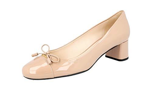 (Prada Women's 1I419F 069 F0A48 Beige Leather Pumps/Heels EU 39 / US 9)