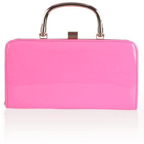 My1stWish - Bolso de asas para mujer Pink Shiny