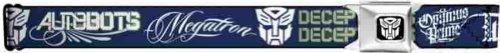 Buckle-Down Seatbelt Belt - Transformers/Autobots/Decepticons Script Navy/White - 1.5