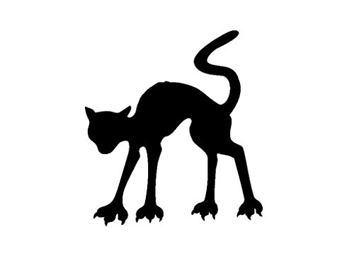 Pack of 3 Halloween Cat Stencils, 11x14, 8x10 and 5x7 Made from 4 Ply Matboard -