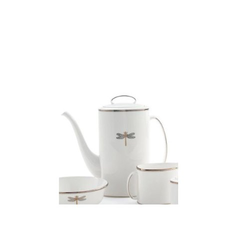 Kate Spade New York Women's June Lane Coffeepot with Lid White - Fine China Coffee Pot Lid