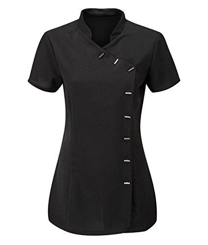 Momo&Ayat Fashions Ladies Beauty Hairdressing SPA Therapist Massage Salon Uniform Overall Tunic US Size 4-22 (US 8 (UK 12), Black) (Uniforms Dickes Women)