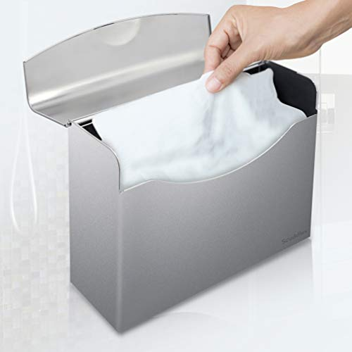Georgia Disposable Towel (Easy Pull Paper Towel Dispenser - Towel Holder Wall Mount and Counter top | Commercial Office Bathroom Kitchen & Restaurant | Disposable Hand Towels | Holds 300 Papers - Scuddles)