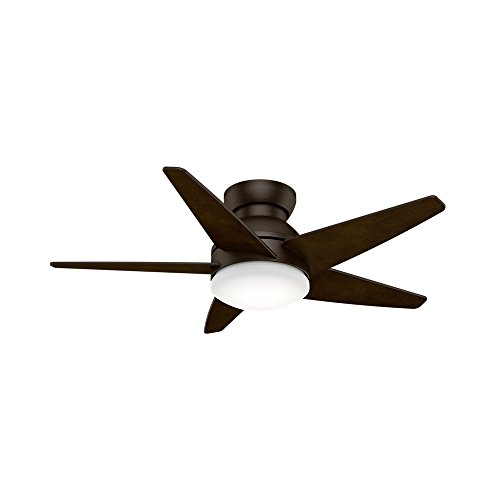 Casablanca 59020 Isotope 44-Inch Ceiling Fan with Five Espresso Blades, Wall Control and Light, Brushed Cocoa