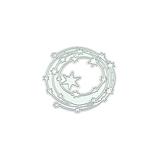 Hukai Star Circle DIY Metal Cutting Dies Stencil Scrapbooking Photo Album Stamp Paper Card Crafts Decor,Good Gift for Your Kids to Cultivate Their Hands-on Ability ()