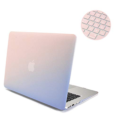 GMYLE 2 in 1 Bundle, Hard Case Frosted for MacBook Air 13 in