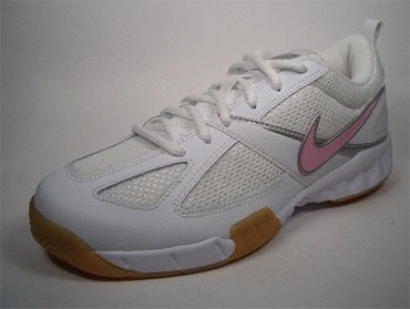 Nike COURT Shuttle II 318864 162 Blanco de plata de color rosa Tamaño Euro 38/US 7/UK 4,5/24 cm