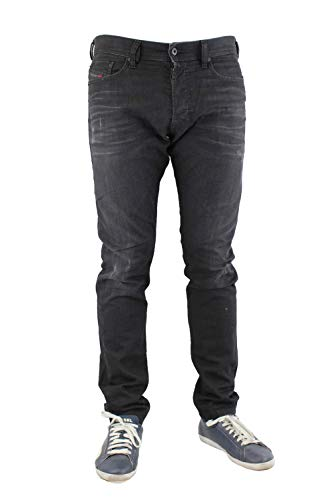 Diesel Men's Jeans Thommer Slim Skinny Fit Cotton Dark Blue Mid-Rise 00SW1Q -084ND-01 (W 32 - L 32) ()