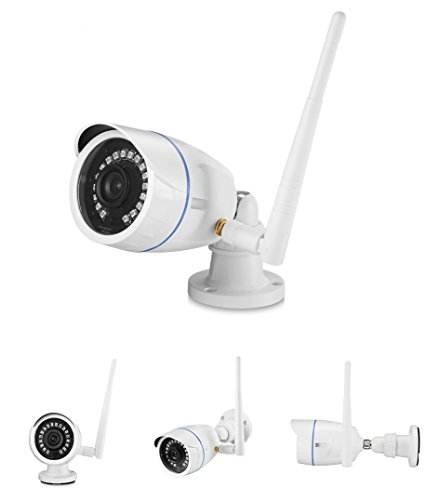 Security Camera, Amgaze 720P HD Wireless WiFi Camera Waterproof Indoor/Outdoor Home Security Camera Video Surveillance Camera System with IR LED Night Vision Support iOS Android Laptop PC