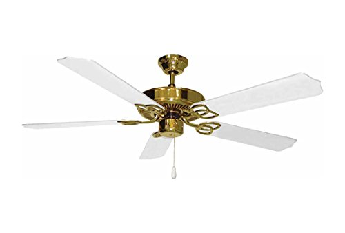 Volume Lighting V5954-2 Polished Brass Ceiling Fan (Ceiling White Polished Fan)