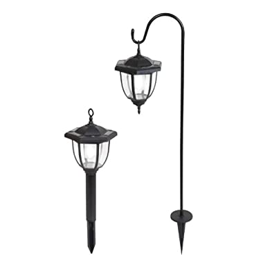 Yards & Beyond Dual Use Coach Style Solar Lights - 2 Pack