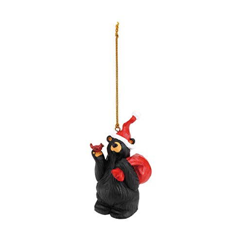 DEMDACO Nick The Elf Midnight Black 4 x 2 Handcast Resin Stone Christmas Ornament
