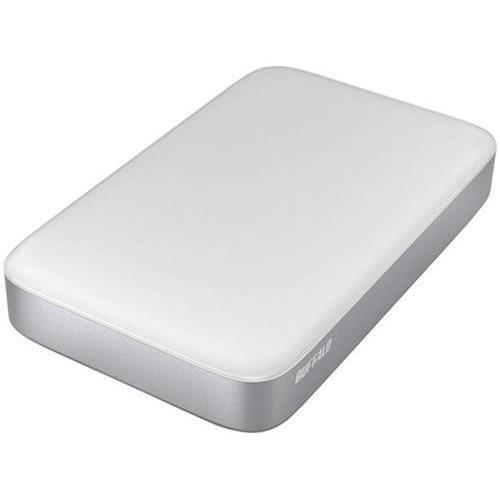 2PR0097 - Buffalo MiniStation Thunderbolt HD-PATU3 1 TB 2.5 External Hard Drive - Silver