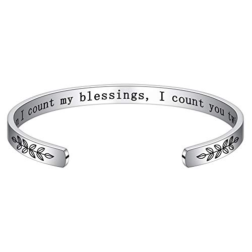 M MOOHAM Wish Gifts for Sisters Friends - Birthday Christmas Thanksgiving Day Jewelry Gifts for Sister Friend, When I Count My Blessings I Count You Twice Bracelet