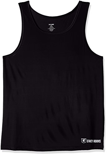 Stacy Adams Men's Big and Tall Tank Top, Black, 4X-Large by Stacy Adams