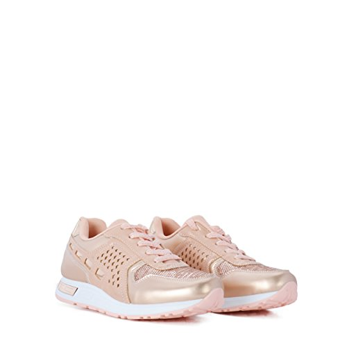 Casual Picado Con Rosa Altamoda En Color Sneakers Zapatillas 1Ffx8q7R