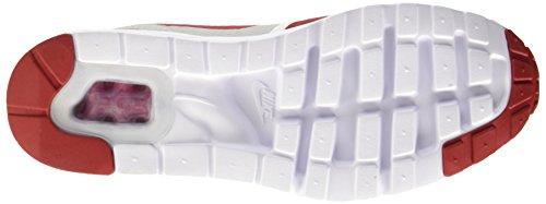Nike Air Max 1 Ultra Essential, Scarpe da Ginnastica Uomo Bianco (Blanc/Varsity Red-neutral Grey-blanc-noir) (Rosso, Grigio, Nero)